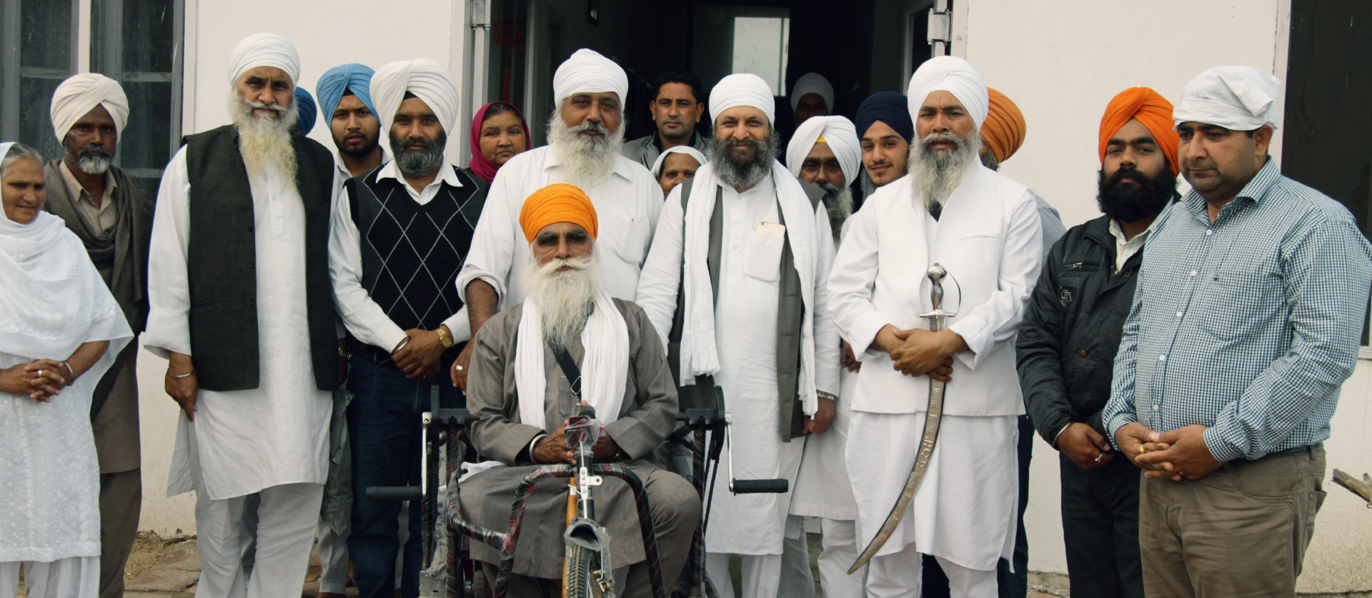 Baba Daljit Singh Ji (Amritsar) during tricycle distribution